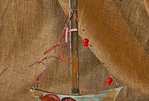 Barco em madeira