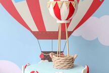Twins hot air ballon
