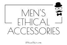 Men's Ethical Accessories / Featuring the best ethical, organic, sustainable and eco-friendly accessories for men. Emphasis on products supporting fair trade and worker welfare. Discover more men's ethical accessories at ethicalfair.com
