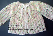 casaquinhos de croches bebes