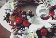 Stroiki świąteczne / Ręcznie przygotowywane stroiki świąteczne