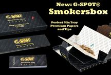 New G-SPOT® Smoker Box / Neue handliche Box aus Softtouch Papier mit Premium King Size Papers und integriertem Mix Tray! alle Infos unter www.g-spot-bong.de