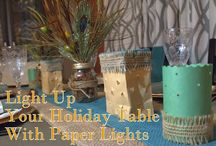 thanksgiving day table / Thanksgiving Day decorating ideas