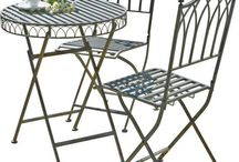 Garden Metal Set 3 Piece Table Chairs Patio Furniture Outdoor Bistro Summer Home