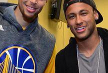 Stephen Curry i Neymar JR