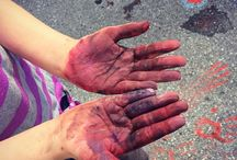 Messy Hands / Messy hands are a sign of a good art class!