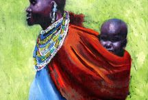 The Africa Series by Rick Madore / This series was created from two trips I did in Africa.  One was to The Gambia back in 1995 and the other was to Kilema, Tanzania in 2007.  They were both wonderful experiences.  I continue to add to the series.  All paintings are in oil