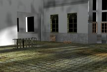 The abandoned hospital project / Another 3D project on Blender 2.69. This time I am aiming at a decrepit hospital, and I may use the set to try a little haunting animation.