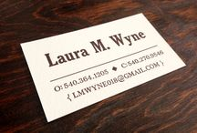 Letterpress Business Cards / Custom designed, hand-set business cards printed by hand on an antique printing press.