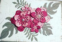 Botanical Garden / Botanical Blooms Stamp Set en Botanical BuilderFramelits Dies Stampin'Up
