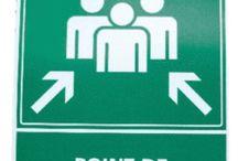Panneau point de rassemblement / Signalétique