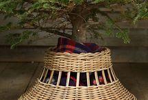 поддон для елки плетение
