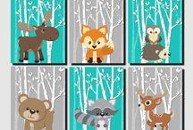 zwierzeta w lesie