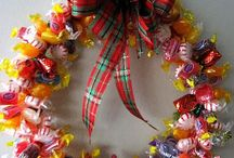 Hard candy wreath.
