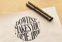 ABC by hand / Hand lettering and calligraphy