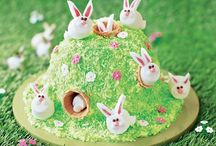 Rabbit flower cake