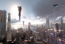 futuristics citys