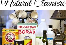 Natural Cleaning Solutions / Non-toxic cleaning products for around the home!