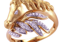 Horse or Equestrian Jewelry / 14kt gold jewelry featuring horses - the fabulous 14kt gold horse jewelry from Shula New York is now 40% off!
