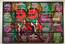 Gilbert and George. The Beard Pictures and thier Fuckosophy