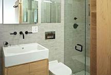 Bath - guestroom / by Gisela Bach