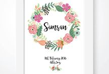 Nursery Ideas / Beautiful personalised wall art prints for nursery and kids rooms