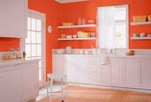 Kitchen Orange Walls
