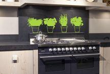 """Stickers - Cuisine / Kitchen / Vous trouverez un aperçu des stickers """"cuisine"""" que nous proposons. Il y en a bien d'autres sur notre site www.artandstick.be.  This is an overview of """"Kitchen"""" wallstickers presents on our site. There are much more on www.artandstick.be"""