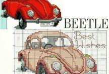 auta, pojazdy - cross stitch cars , vehicles / różnego rodzaju środki lokomocji