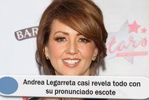Andrea Legarreta casi revela todo con su pronunciado escote