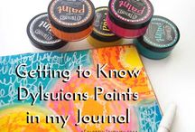 Art - Dylusions Paints and Sprays Inspiration / Ideas using Dylusions Paint
