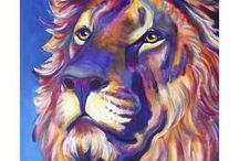 aaaaaaaaArtwork Lions, Tigers, Bears, Elephants & etc... Paintings