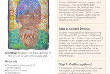 Art Education - Identity / Portraits / Art lesson ideas for identity theme.