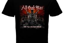 ALL OUT WAR Band Black T-shirt
