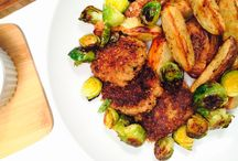 Mat: Middagskaker / Kjøttkaker, vegetarkaker og andre ting som kan lages til middag i en lignende form.