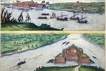River ships on Danube / Danube fleet and war ships on Danube. (mostly 1550-1650)