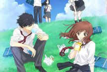 Ao haru ride / Blue spring ride / Blue spring ride is a Japanese shōjo manga series written and illustrated by Io Sakisaka. There are an anime television series produced by Production I.G and a live-action film adaptation in 2014.   https://en.wikipedia.org/wiki/Blue_Spring_Ride