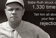 Motivation / Babe Ruth on fear