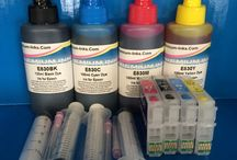 Epson Refill Kits & CISS / Refill Kits & CISS for Epson Expression, Workforce, Premium, Photo, Stylus Colour/Color Printers.  Refillable cartridges with auto reset chips (ARC), syringes, and dye or pigment ink bottles.  Instructions included with kits.