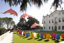 #CrackingArt | Villa alle Scalette, Vicenza / October 2007 | Cracking Art installation with some sculptures made of Trend Group glass @ Villa alle Scalette, Vicenza