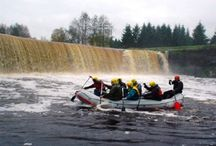 Rafting / Rafting or whitewater rafting is a challenging recreational activity utilizing a raft to navigate a river or other bodies of water.