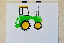 Fussabdruck Baufahrzeuge