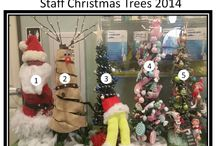 Staff Christmas trees!  2014 / Christmas tree contest