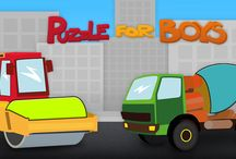 Car Puzzle Game for Toddlers, Kids and Baby Boys /  Free educational puzzle app with cars ,trucks and construction vehicles and meny more :) on App Store and Google Play.  - ensure great hand-eye coordination training - trains fine motor skills by dragging and dropping puzzle pieces - develops logical thinking and concentration - learns to recognize vehicle shapes with sample words - you can choose a language - Polish or English - so it may be the first step into learning the language for your baby.