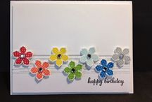 Petite Petals / Cards made with Stampin' Up Petite Petals and punch