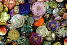 Vintage Glass Buttons / I got these vintage glass buttons from a dealer in Prague.  I then converted them into earrings, pendants, necklaces, and more!   / by Donna
