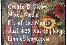 Linnie Blooms Mixed Media Kits / Linnie Blooms mixed media kits
