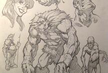 creatures sketch