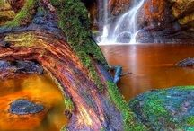 cascades chutes waterfalls