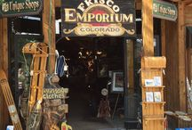Vintage Ski World Store in Frisco Colorado / When you are in Summit county, visit the best shop filled with vintage ski equipment, posters & memorabilia! We have a great selection of gift items for your skiing friends and family. Plus, you can find special unique products for decorating you home, condo, office or dorm room.